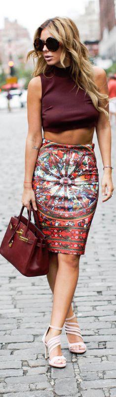 Ecstasy Models - Printed Shein Skirt / Fashion By Zorannah