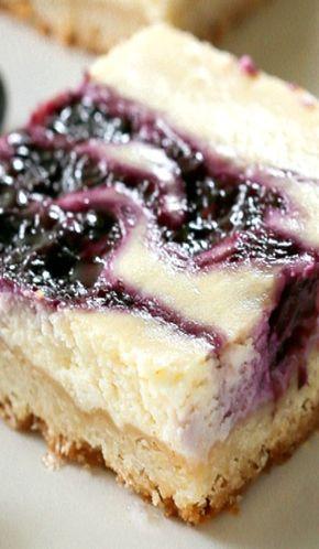 Blueberry Lemon Cheesecake Bars - Blueberry Lemon Cheesecake Bars