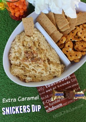 Extra Caramel SNICKERS Dip Recipe Perfect for Your #BigGameTreats #Ad - Extra Caramel SNICKERS Dip dessert recipe. This sweet dip is a perfect addition to your #BigGameTreats #ad