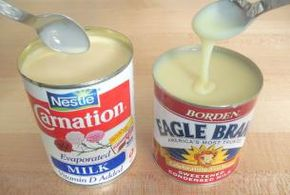 Oh no! Should I really know how to make Eagle Brand milk from SCRATCH?? ....... YES. 3/4 cup powdered milk 3/4 cup sugar 1/2 cup hot water Blend until smooth. This recipe equals one can of store bought condensed milk.
