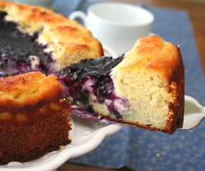 Blueberry Cream Cheese Coffeecake (Low Carb and Gluten-Free) - Blueberry Cream Cheese Coffeecake (Low Carb and Gluten-Free)