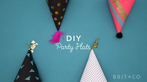 How to DIY Party Hats - DIY your Christmas gifts this year with 925 sterling silver photo charms from GLAMULET. they are 100% compatible with Pandora bracelets. How to DIY party hats.