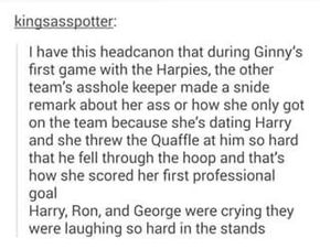That's why you don't mess with Ginny Weasley-Potter
