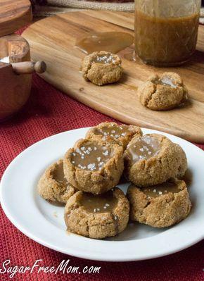 Low Carb Sugar-Free Salted Caramel Snickerdoodle Cookies
