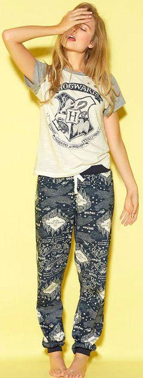 PRIMARK HOGWARTS HARRY POTTER MARAUDERS MAP PJ'S PYJAMA SET sizes 6 - 20 - Click. Buy. Love. - 1