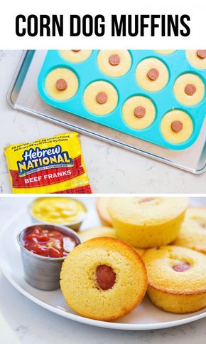 Corn Dog Muffins - Easy and delicious corn dog muffins recipe…the perfect appetizer for game day and something the whole family will love!