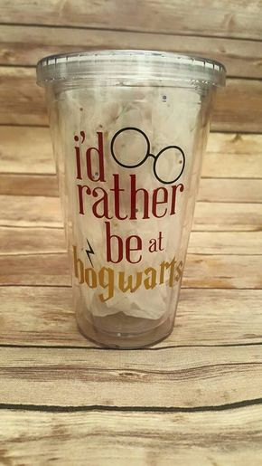 "35 Gifts For Anyone Who Likes ""Harry Potter"" More Than People #harrypotter #gifts #hogwarts Harry Potter Tumbler - Id rather be at hogwarts"