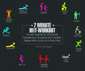 7 Minute HIIT Workout - 7 MINUTE HIIT WORKOUT