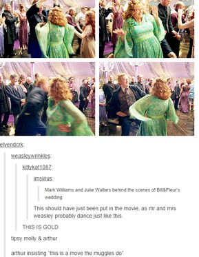 molly and arthur - this is a move the muggles do
