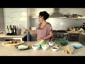 Give your dinner party a warm and welcoming feel by setting up a serve-yourself buffet.  TV host and blogger Evette Rios suggests separating your drinks and entrees so that everyone can mix and mingle between mixers and meatballs. In addition to setting the stage for spontaneous conversations, this casual layout gives you the freedom to focus simply on being the host.