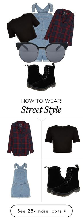 """""""Street style"""" by baestylz on Polyvore featuring Dorothy Perkins, Ted Baker, Rails, Dr. Martens and Quay"""
