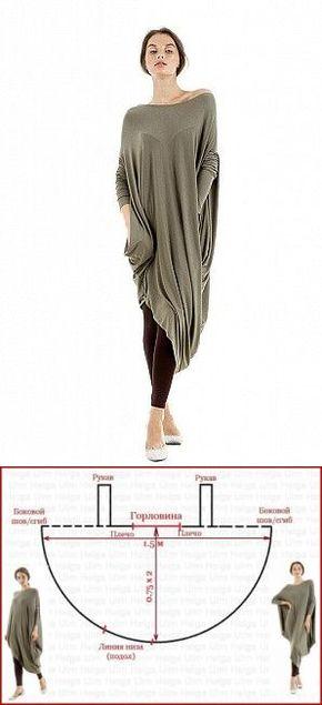 а люблю шить - Túnica o un vestido? corte interesante