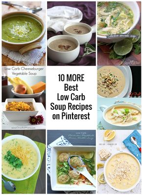 10 Best Low Carb Soup Recipes from Pinterest - IBIH - a curated list of low carb soup recipes from mellissa sevigny of I Breathe Im Hungry