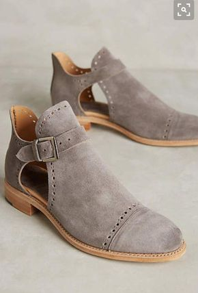 Flat suede shoes