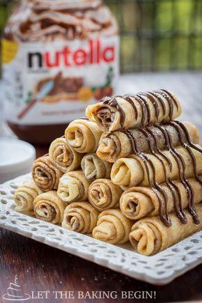 Nutella Stuffed Crepes & 3 Ways to Fold Them - Nutella Stuffed Crepes & 3 Ways to Fold Them | By LetTheBakingBeginBlog.com | @Letthebakingbgn