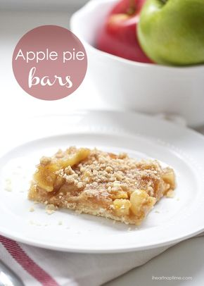 Apple pie bars - Delicious homemade apple pie bars ... just like apple pie with out all the work!