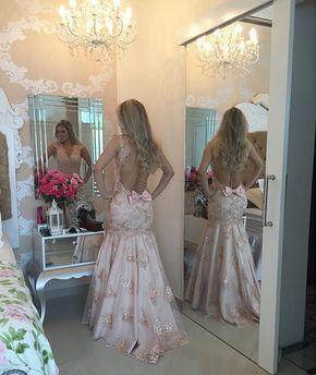 Prom Dresses,Evening Dress,Sexy Eve - Prom Dresses,Evening Dress,Sexy Evening Gowns Mermaid Pink Lace