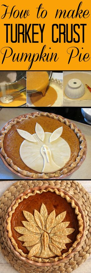 Adorable Turkey Crust Pumpkin Pie - Turkey Crust Pumpkin Pie