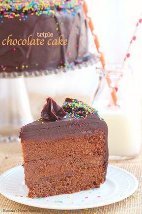 Triple chocolate cake - Triple Chocolate Cake