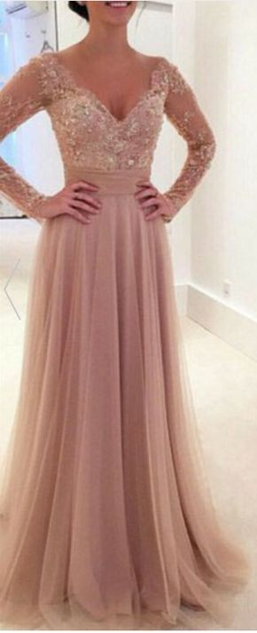 Long Prom Dress, Two Piece Prom Dre - #hotpink #chiffon #prom #party #evening #dress #dresses #gowns #cocktaildress…