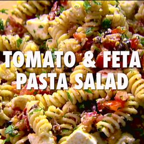 Tomato Feta Pasta Salad - Round out any cookout with a flavor-packed Tomato Feta Pasta Salad!