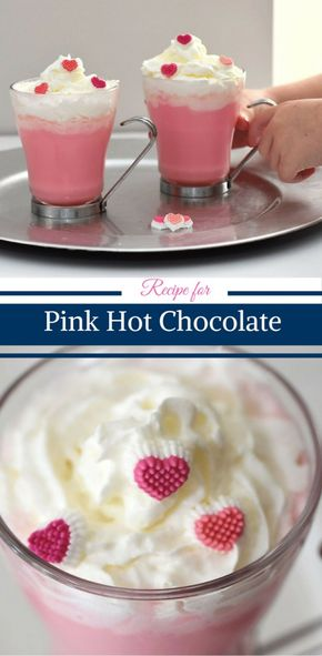 Pink Hot Chocolate - Recipe for Pink Hot Chocolate Mix by Happy Family Blog