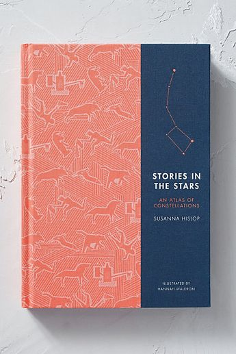 stories in the stars: an atlas of constellations • susanna hislop book jacket cover design layout