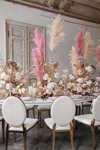 30 Spectacular Pampas Grass Wedding Decor