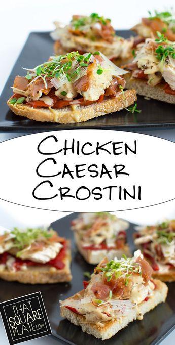 Chicken Caesar Crostini