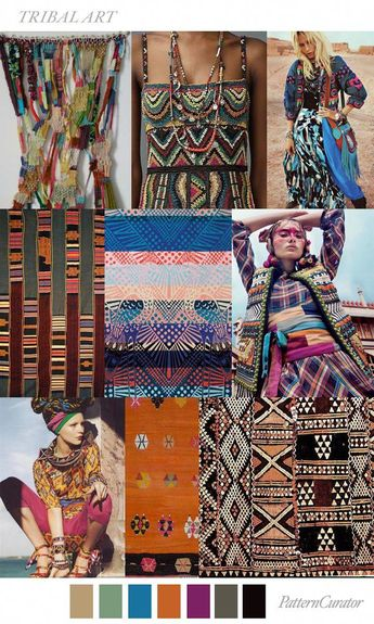 TRENDS // PATTERN CURATOR - COLOR + PRINT | TRIBAL ART . SS 2017 | FASHION VIGNETTE | Bloglovin' #fashiontrends