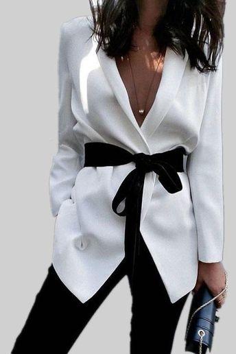 Deep V-neck Lapel Irregular Slim Short Blazer Coat