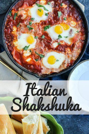 Italian Shakshuka   Baked Eggs   Eggs in Hell   Spicy Baked Eggs   Shakshuka Recipe   Egg Recipe   Italian Baked Eggs   #shakshuka - @happyeggcousa #FreeestFreeRange #HappyHenHappyEgg #AD