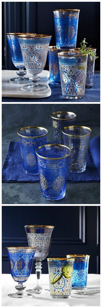 Blue Mosaic Tumblers. Gorgeous pattern!