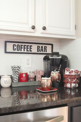 A GORGEOUS home tour full of classic Christmas decor. www.littlehouseoffour.com