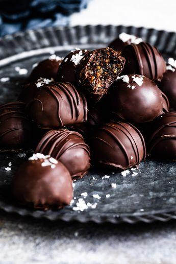 Dark Chocolate Honey Fig Walnut Truffles