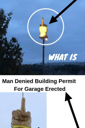 Man Denied Building Permit For Garage Erected A Giant Middle Finger Statue Instead