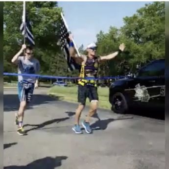 Man runs across entire state of Michigan to raise money for fallen officers