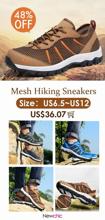 [48%off]Large Size Men Mesh Slip Resistant Wear Resistant Hiking Outdoor Shoes #footwear #hiking #shoes #outdoor