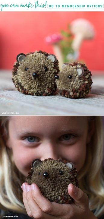 Video Tutorial: Hedgehog Pom Pom Pals