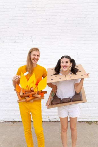 DIY Campfire & S'mores Couples Costume