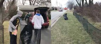 When Senior Couple Receives Citation Over Trash-filled Yard, Teens Step in to Help