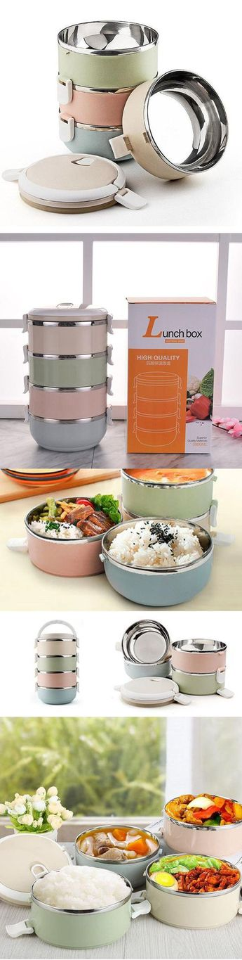 1000+ SOLD Lunch Box Bento Food Storage Container.1/2/3/4 Layers&Stainless Steel.SHOP NOW!