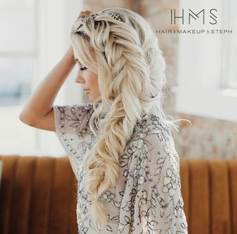 Dutch fishtail bridal updo  #hair #wedding #bridal #bride #updo #romantic #inspiration #specialoccasion #homecoming #prom #bridesmaid #braid
