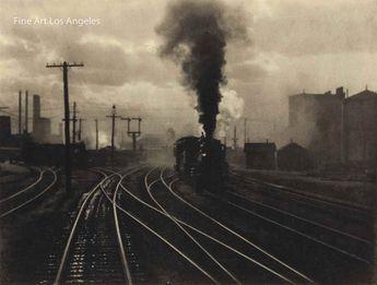 "Alfred Stieglitz Photo ""The Hand of Man"" 1902 trains"