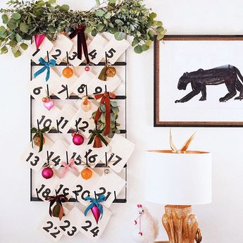 December is coming . . . I made this advent calendar for the kids and can't wait to pour myself a glass of wine tonight and fill it all kinds of goodies, while watching Love Actually for the 218th time. #TGIF #DIY