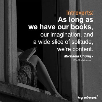 Introverts: As Long As We Have Our Books