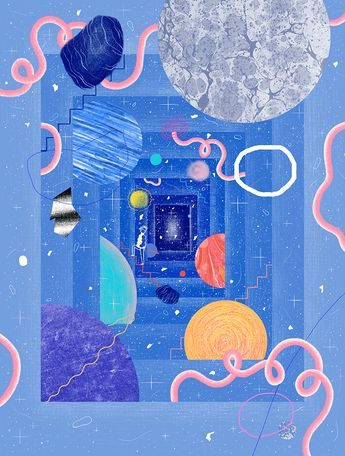 Is Life Special Just Because It's Rare? illustration by Gizem Vural. #nautilusmag #scaling #extraterrestrial life #Gizemvural