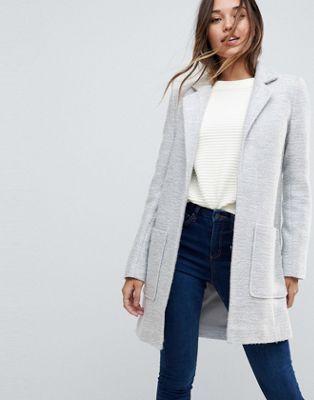 DESIGN slim coat in texture