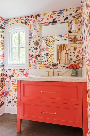 Colorful Powder Bath, by Paper Moon Painting