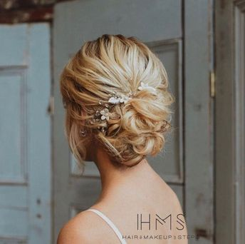 Romantic updo  #hair #wedding #bridal #bride #updo #romantic #inspiration #specialoccasion #homecoming #prom #bridesmaid